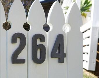 HOUSE NUMBERS - Raised 3D - GREY - 10cm tall - Handmade & Modern, Beach House Numbers