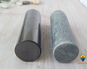 Shungite and steatite harmonizers cylinders polished Premium Russia, Crystal Healing, Black, Protection, Feng Shui, Reiki, Metaphysical,