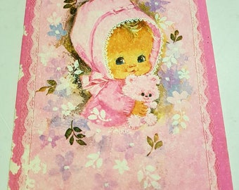 Welcoming Baby Girl Card