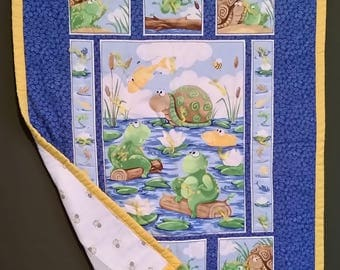 """Baby Quilt """"Gone Fishing"""""""
