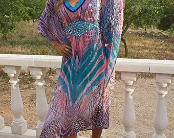 Gendrya Tunique - Hippy Chick Ibiza, Long dress, boho chic, silk, hippie chic,