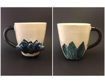 Blue Crystal Mug