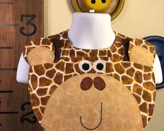 Handmade Bibs- Zoo Animals