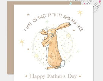 Guess How Much I love You Father's Day Card