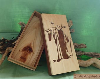 Wooden box with Star Wars theme