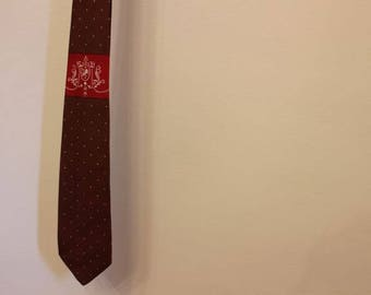 Vintage Men's Tie with Lion Coat of Arms