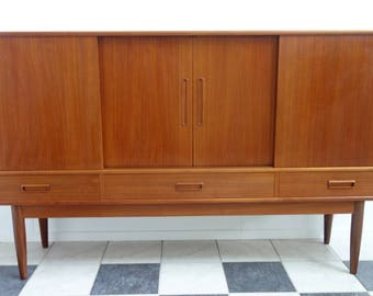 Danish Teak highboard Skab 103 R. Andersen, Thorso