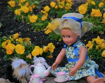 18 inch doll Tea Time Dress