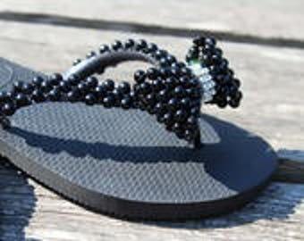 Custom black Havaianas