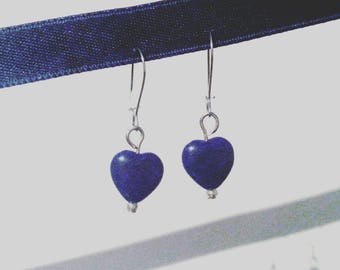 Blue Heart Earrings #014