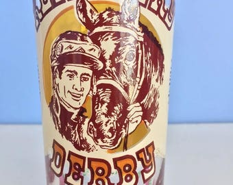 Kentucky Derby Horse Racing 1977 Mint Julep Glass Frosted Churchill Downs MINT Condition Libbey