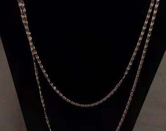"Vintage Citation Multi strand gold tone necklace 36"" & 30"""