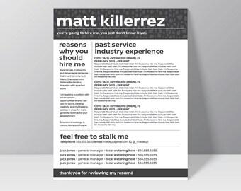 THE SAUCE - Resume  // creative resume // professional resume // resume design // cv design // resume