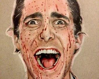 American psycho drawing