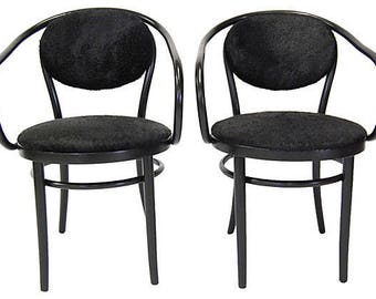 Thonet Chairs w/ Cowhide (pair)