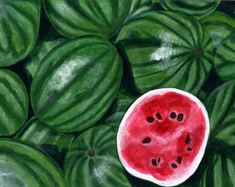 Watermelon Painting Print