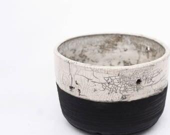 Ceramic Planter - Raku fired - Succulent Planter