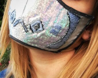 Customizable, embroidered, festival, surgical mask