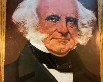 8th president martin van buren color portrait 11 x 14 published in 1972