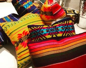 Mexican Wedding Ring Pillow Serape Purple Ringbearer Wedding Bands Diamond Engagement Ring Rainbow Cushion LGBT