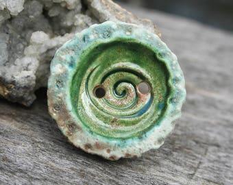 Handmade Ceramic Button