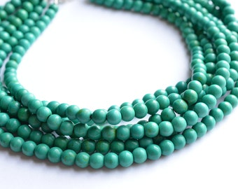 The Michelle- Teal Magnesite Statement Necklace