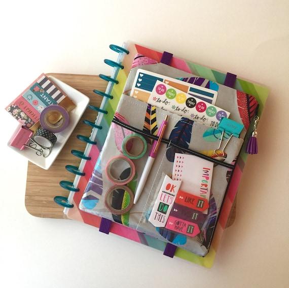 Big happy planner cover planner bag planner sticker holder for Happy planner accessories