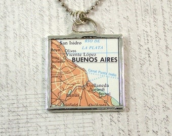 Buenos Aires Map Pendant Necklace