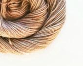cappuccino / hand dyed yarn / fingering sock dk bulky yarn / superwash merino wool yarn / choose your base / light brown beige neutral yarn