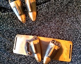 1950s Cufflinks Buckle Rebajes Copper Brazilian Masks Modernist