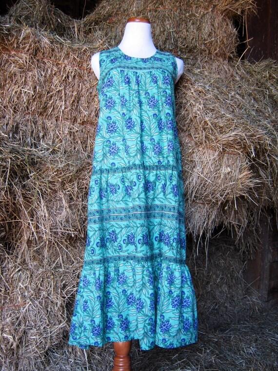 SALE Vintage Boho Dress/ Bohemian Dress/ India Dress/ Hippie Dress