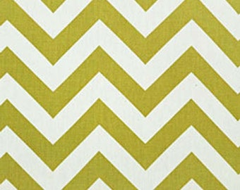 CLEARANCE - Premier Prints Zig Zag Village Green Natural Chevron Stripe Home Decorating Fabric By The Yard