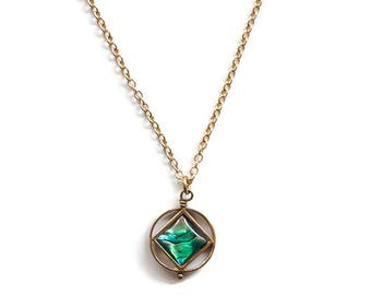 Abalone Mini Theorem Necklace