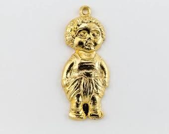 23mm Gold Child Wearing Dhoti Charm #CHD040