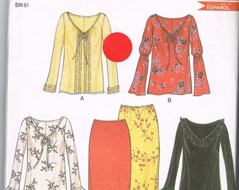 Summery New Look 6042 Top and Skirts