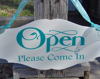 Business Sign Open Please Come In Closed Please Come Again Open Closed Office Supplies Spa Salon Health Beauty Store Business Welcome Sign