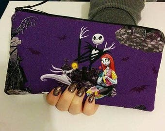 Nightmare Before Christmas Zippered Wallet  Pouch Make Up Bag Pencil Case Anime Cosplay