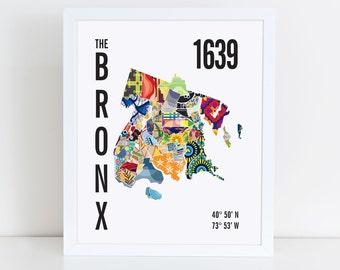 Bronx City Map Print