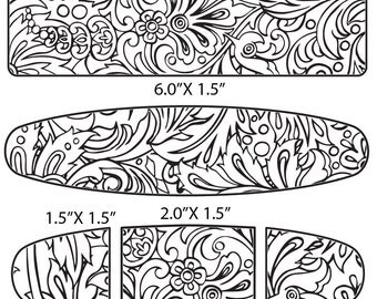 Etching Pattern for Paisley Cuff, Earrings, Ring Digital Download -D-ODP-paisley-1