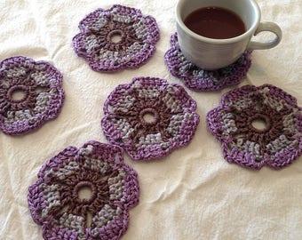 Crochet Coasters-Lavender