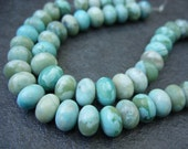 "Turquoise Jasper Rondelle Beads - One 16"" Strand - 10x7MM"