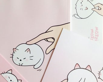 cute stationary letter + envelope set + notebook ++  entire character set of 3  ++ unique Korean stationary ++ baby animal cat kitten