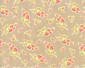 Coney Island - Posies in Boardwalk Tan: sku 20282-18 cotton quilting fabric by Fig Tree and Co. for Moda Fabrics - 1 yard