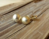 ON SALE 14K Yellow Gold Studs - 6mm
