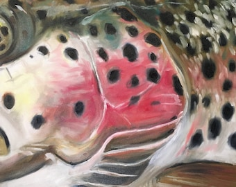 Rainbow Cheekplate, Original Painting