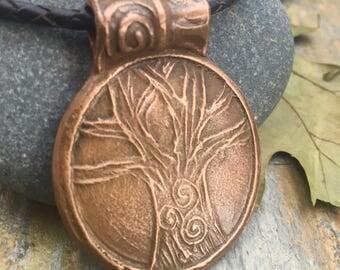 Copper Tree of Life Pendant, Celtic Jewelry, Pagan Jewelry, Copper Tree Necklace, Triskele, Triskelion, Druid Tree Jewelry, Trisklele Tree