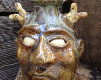 FACE JUG by Joel Patton: The Devil of Never, Ever, Ever Knowing