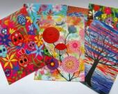 Artist's Postcards - Original Artwork - Set of 6 by Leandra Holder - (set 1)