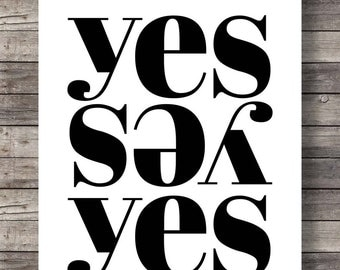 Printable art | Yes | Minimalist modern black and white graphic | type  Printable wall art typography print INSTANT DOWNLOAD