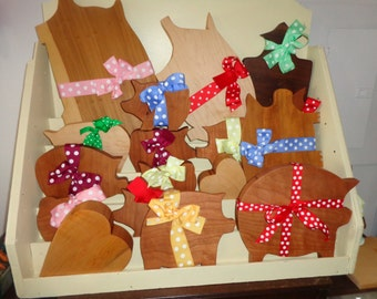 Polks Dot Hardwood Pigs for Sale/ Small chopping Blocks/Cutting Boards/ For the small stuff
